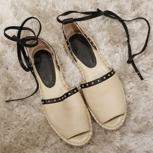 Laced Up Espadrilles-SIze 7
